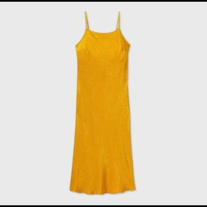 Beautiful Bright Yellow Slip on Maxi